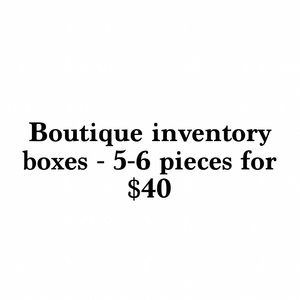 Boutique inventory boxes- limited quantity